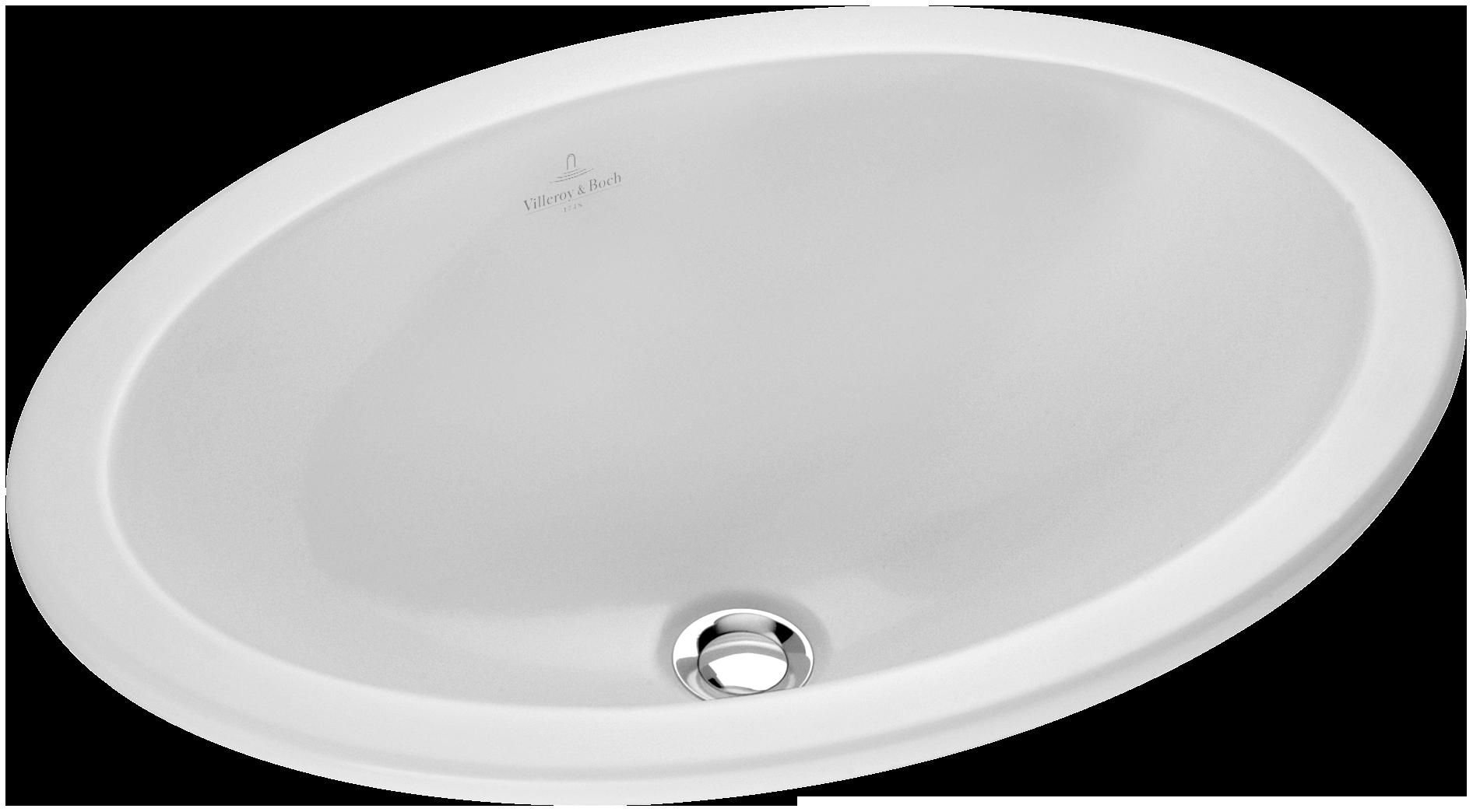 loop & friends lavabo da incasso ovale 615510 - villeroy & boch - Lavabo Da Incasso Per Bagno