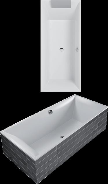 Squaro vasca da bagno rettangolare ubq180sqs2v villeroy - Vasca da bagno villeroy e boch ...